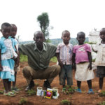 Kitchen garden of  vegetables for malnutrition reduction in Bugesera